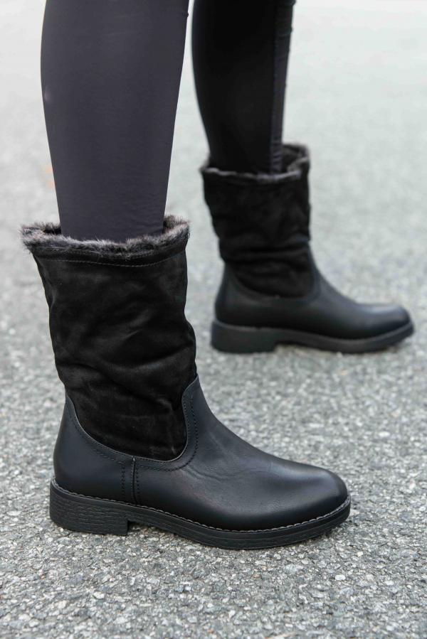Vinterboots - Bente svart
