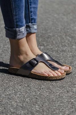 Sandaler - Violett grå