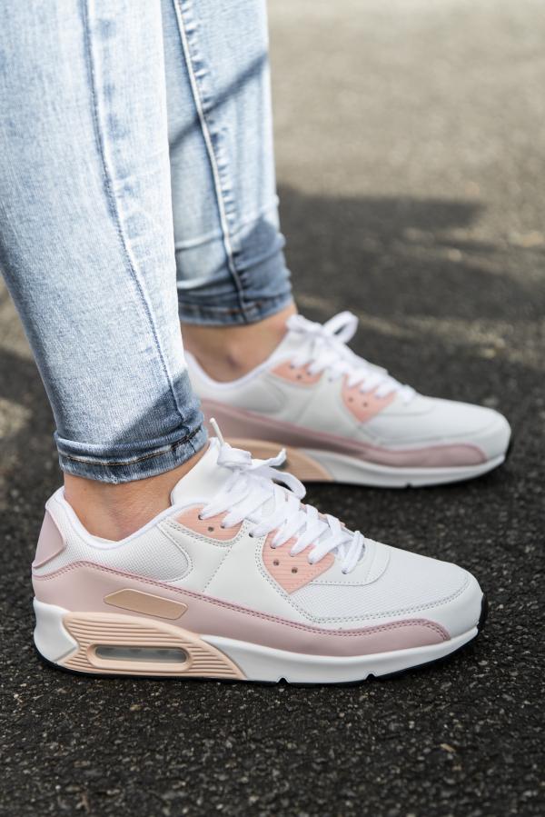 Sneakers - Kristine lysrosa/hvit