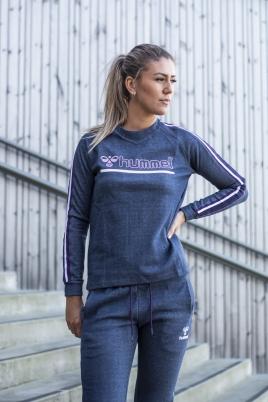 Hummel - HMLBELL SWEATSHIRT blå