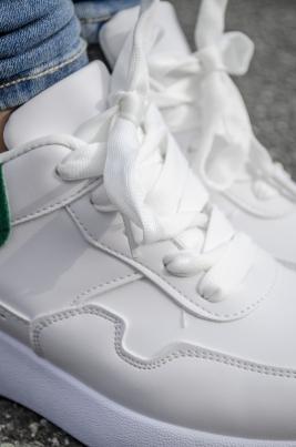 Sneakers - Anna hvit/grønn