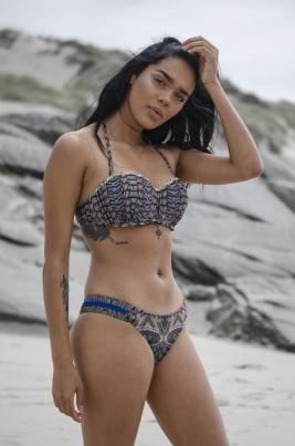 Bikinitopp - North Exclusive Allison Svart/Flerfarget
