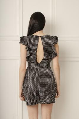Kjole - Zoey svart/hvit
