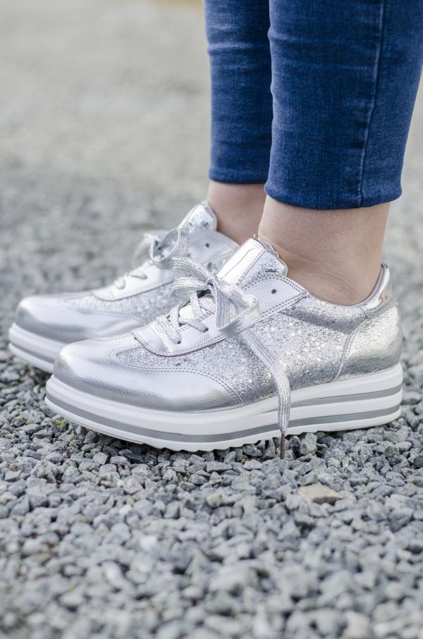 Sneakers - Sabrina sølv