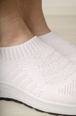 Sneakers - Sina hvit