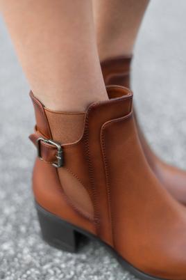 Støvletter - Trine kamel