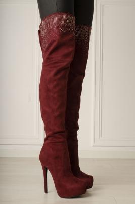 Støvletter - Julia rød