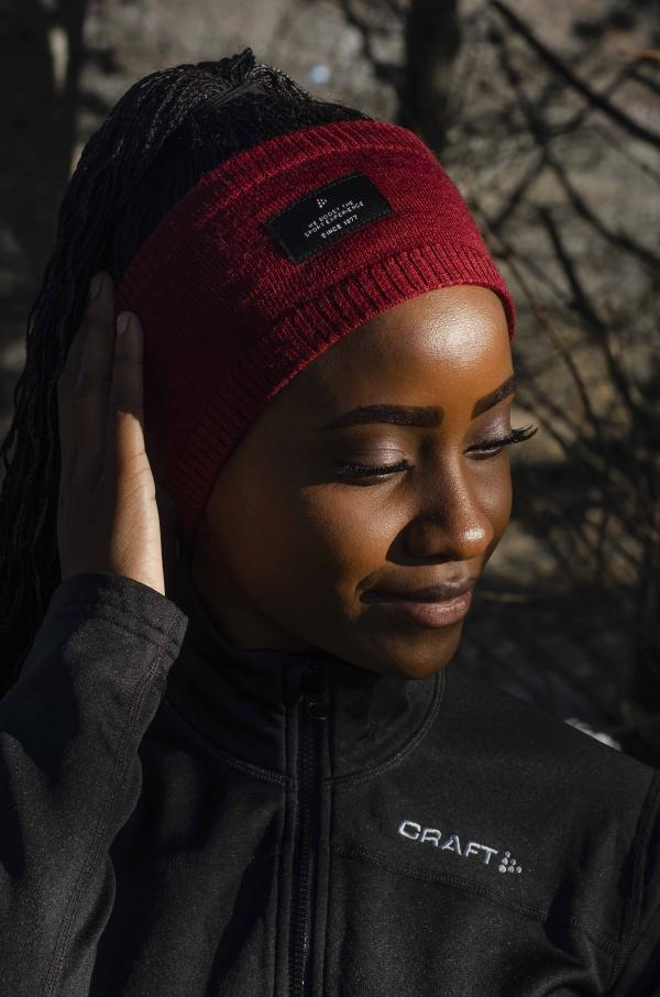 Craft -Urban knit headband Burgunder