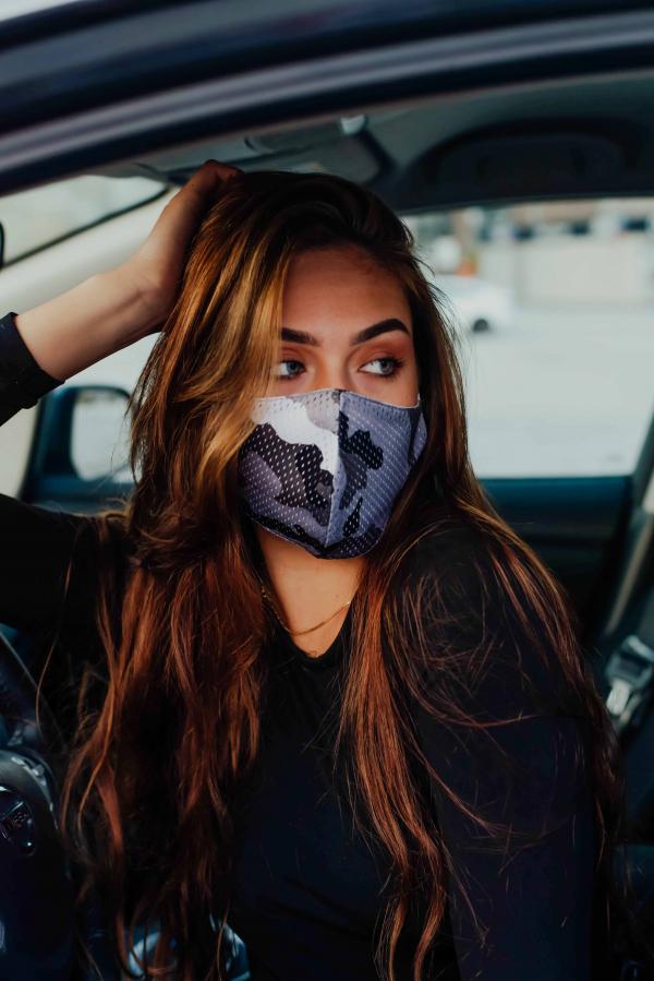 Maske - Militær grå