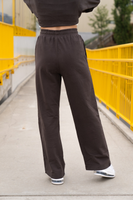 Joggebukse - Essentials straight leg mørk grå