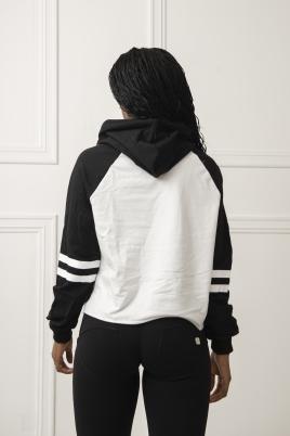 Genser - Theresa hvit/svart
