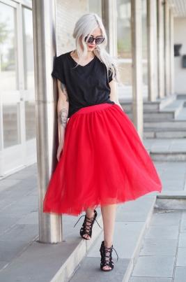 TuTu Skjørt - Blair rød medium lengde