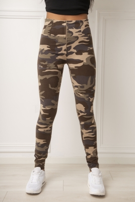 Bukse - WR.UP® Shaping Pants high-Waist Super Skinny Dark Camo
