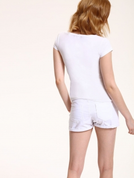 Shorts - Lina hvit