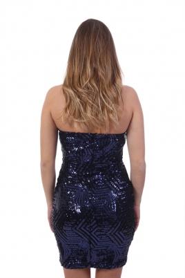 Kjole - Monica blå/svart