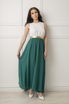 Kjole - Stella hvit/grønn