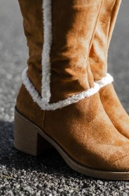 Støvletter - Pia camel