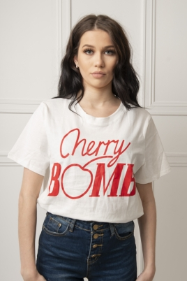 T-skjorte - Jessica hvit