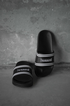 Hummel - hml POOL SLIDE RETRO black