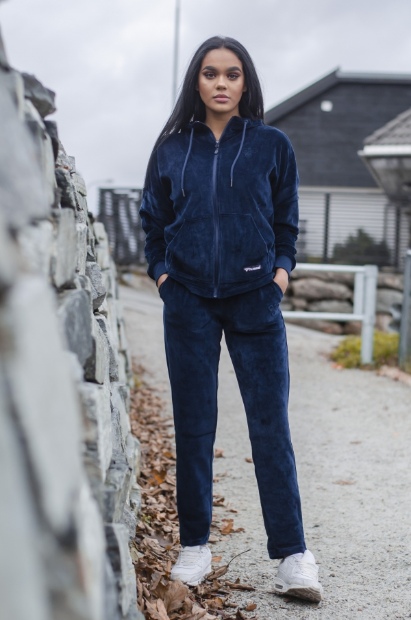 Hummel - HMLRUBY zip hood marineblå