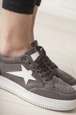 Sneakers - Kine mørk grå
