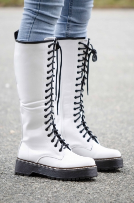 Støvletter - Piper hvit