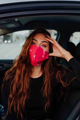 Maske - Rosa blomsterprint