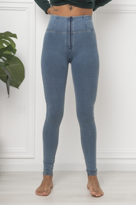 Bukse - WR.UP® high-rise super skinny trousers in light denim-effect fabric
