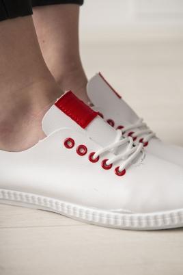 Sneakers - Selma hvit/rød