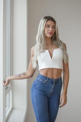 Topp - Amelia hvit