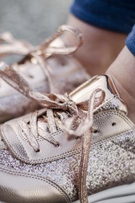 Sneakers - Sabrina champagne