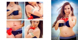 Metalliske tatoveringer - Blossom 2