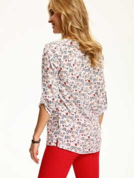 Skjorte - Betty hvit/flerfarget