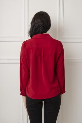 Skjorte - Lila rød
