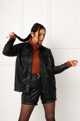Skjorte - Monica svart PU