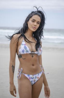 Bikinitruse - North Exclusive Pineapple Hvit/Flerfarget