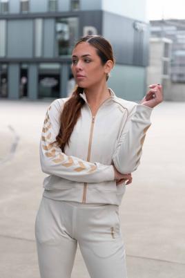 Hummel - hml ZIBA short zip jacket beige