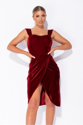 Kjole - Vera vinrød