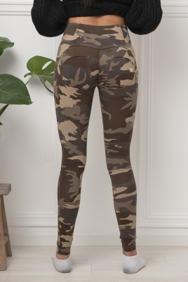 Bukse - WR.UP® Dark Camouflage mid-rise-rise super skinny trousers