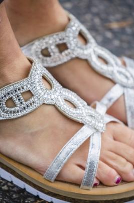 Sandaler - Ella sølv