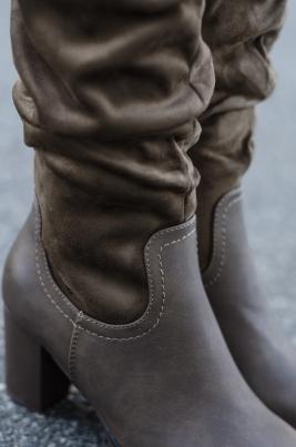 Støvletter - Hedda khaki