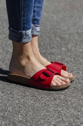 Sandaler - Synne rød
