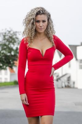 Kjole - Anna rød