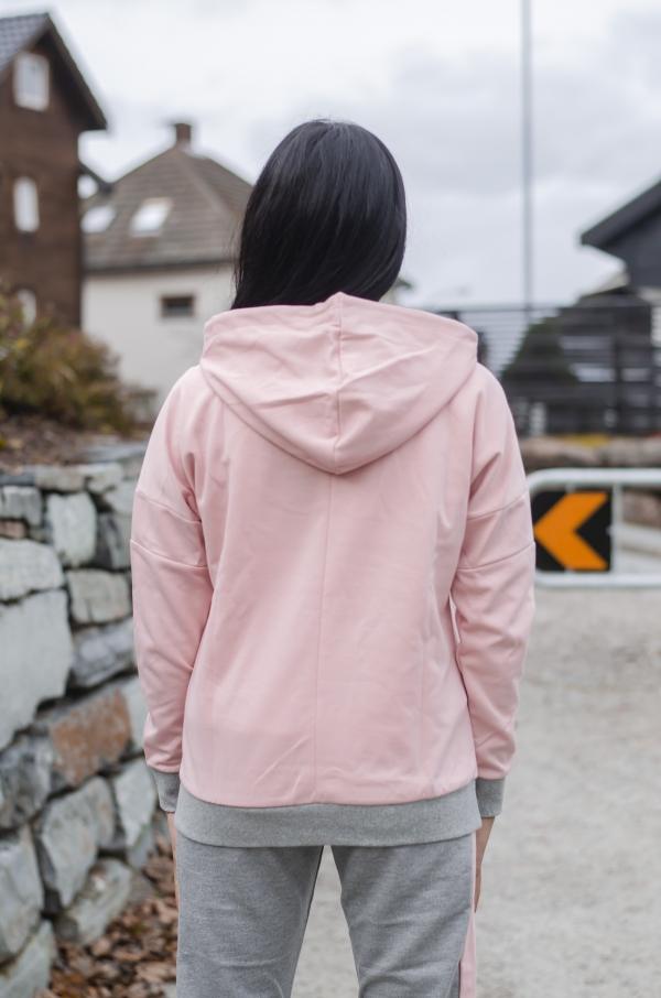 Hummel - HMLKyra hood rosa/grå
