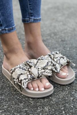 Sandaler - Nora slangeprint