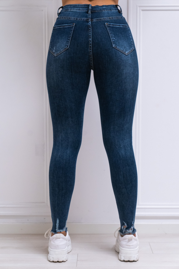 Jeans - Elsa mørk blå
