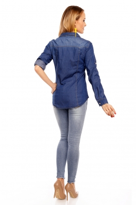Skjorte - Selda mørkeblå