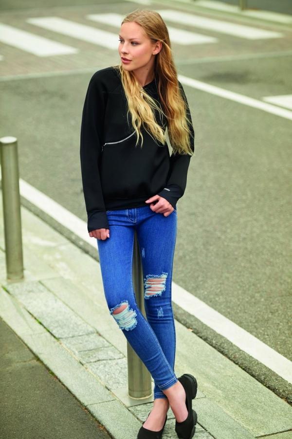 Jeans - WR.UP® Skinny Low Waist Shaping Ripped Denim Blue (J0W)