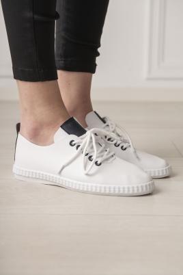 Sneakers - Selma hvit/blå