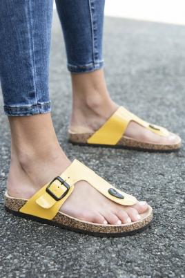 Sandaler - Line gul